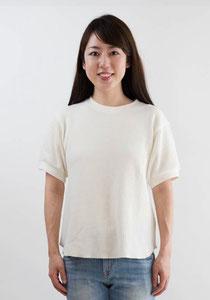 ワッフルクルーネックTシャツ