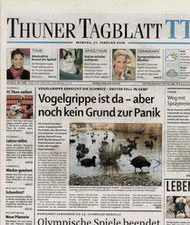 Thuner Tagblatt Titelseite, 27.2.2006