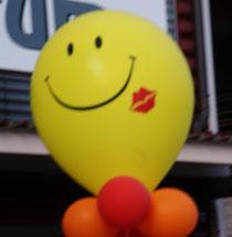 Mr. Balloni, Smily, Heliumballon, Deko, Raumdeko