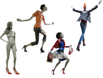 Elena Lichtsteiner; Skulpturen aus Papier