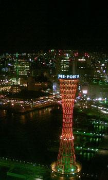 ホテルオークラ神戸35階からの夜景です。