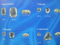 アクセサリー 縫い付け 台座付 アクリル ガラス