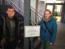 Ein herzliches Willkommen galt der Besuchsgruppe vom Studienseminar Leer. Foto: privat