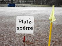 Platzsperre in der Fritz-Hecker-Straße
