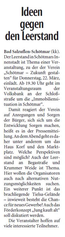 Lippische Landeszeitung 16.03.2018