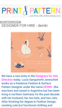 Print and Pattern Blog Feature - Designer for Hire
