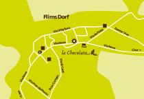 Anfahrtsplan La Chocolata Flims