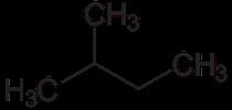 Strukturformel von 2-Methylbutan