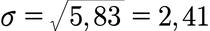 Beispiel zur Berechnung der Standardabweichung