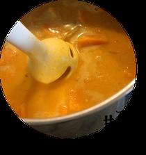 Bild: Rohkostplatte mit Kräuterquark aus dem Kürbis, herbstliches und schnelles Kürbisrezept, gefunden auf Partystories.de