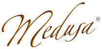 Das Bild zeigt das Logo der Fa. Medusa, Aachen
