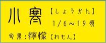 小寒【しょうかん】:檸檬【レモン】