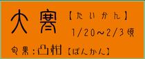 大寒【たいかん】:椿