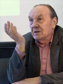 Fritz Deppert bei der Alfred Bodenheimer & Bücherverbrennung-Veranstaltung des FLS, Mai 2013, 80. Jahrestag der Bücherverbrennung / Foto: Marc Mandel