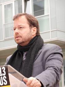 Martin Frenzel während seiner Rede, 08.1.2013 / Foto: FLS