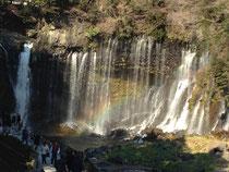白糸の滝に虹 初詣にて