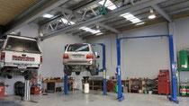 Frankton Automotive's workshop