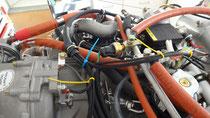 Verkabelung Motorenraum