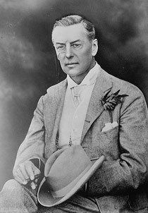 Joseph Chamberlain. Photograph from George Grantham Bain collection, US Library of Congress 1947. No known copyright restrictions - downloaded from Wikimedia.