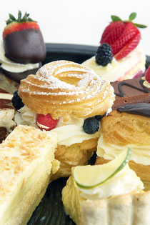 Aa selection of Fine Desserts for a dinner party
