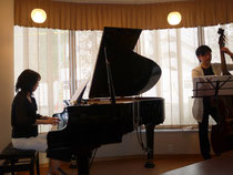 piano bass duo