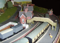 Dulwich Vale station during construction of the model railway