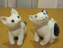 萩焼の猫ちゃん人形