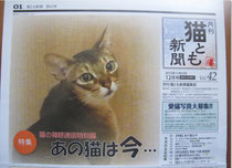猫とも新聞表紙を飾ったアビ君