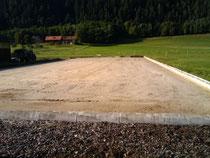 Der alte Sandboden ist draußen!