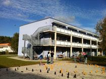 Vereinsgebäude an der Havellandstr.