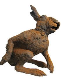Hase (Terrakotta, H: 34 cm)