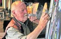 Paul Cartier arbeitet täglich in seinem Atelier. Foto: privat
