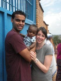 Ben & Susie and their sweet little boy from Rwanda.