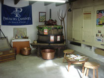 The boutique / shop / cellar of Domaine Pautier