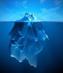 Bild: Die Spitze des Eisbergs, auf naturheilpraxis-bleistein.de