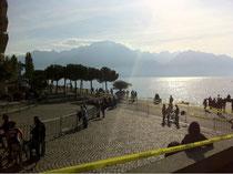 Rennstrecke am Genfer See