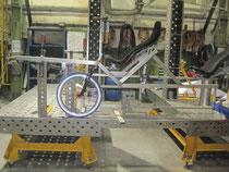 Höhenkontrolle mit Vorderradgabel+Rad