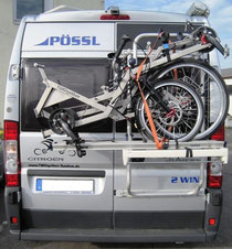 TWOgether Tandem One- geklappt zum Transport