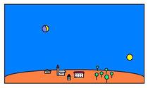 """Bild der """"Mondtäuschung 2"""" von Karlheinz Schott (wikipedia) - siehe auch Link unten"""