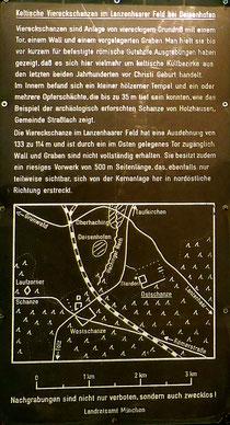 Hinweistafel: Nachgrabungen sind nicht nur verboten sondern auch zwecklos :-)  (bitte klicken um zu vergrößern)