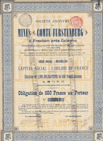 S.A. des MINES COMTE FURSTENBERG