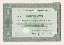 Zuckerfabrik Brühl Muster v 50 DM v. 1975