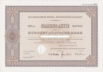 Zuckerfabrik Brühl 100 DM v. 1975 ---bearbeitet!!!---