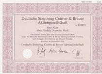 Aktie der Deutsche Steinzeug & Breuer AG; 50,-- DM v. September 1994