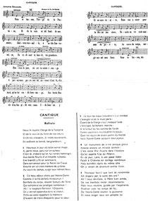 Chant voué à Notre-Dame de la Fontaine de Chièvres - Paroisse Saint-Martin