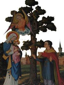 Huart Picavet priant la vierge - Retable de Notre-Dame de la Fontaine - XIXe siècle - Photo Emilie Nisolle