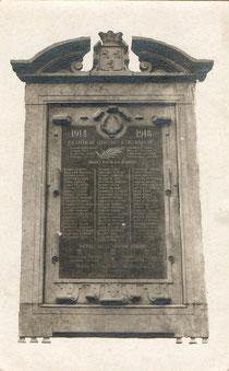 Plaque commémorative - Guerre 14-18 - Anciennement placée sur le bâti de l'Hôtel de Ville