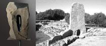 Scultura  + Tomba di Arzachena (Sardegna)
