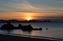 水晶浜の夕陽