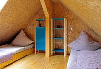 2 Einzelbetten im Dachgeschoss